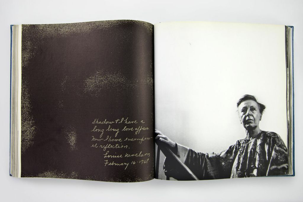 Spread from Daniel Frasnay, <em>The Artist's World</em> (1969); Louise Nevelson statement and portrait.