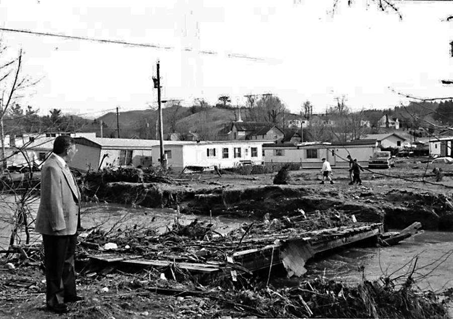 1998 Bakersville flood. Photo courtesy of Bob Hensley.